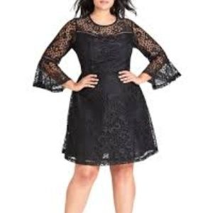 Plus Size Women's City Chic Lace Fit & Flare Dress